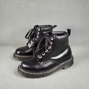 Dr. Martens kids black lace up boots